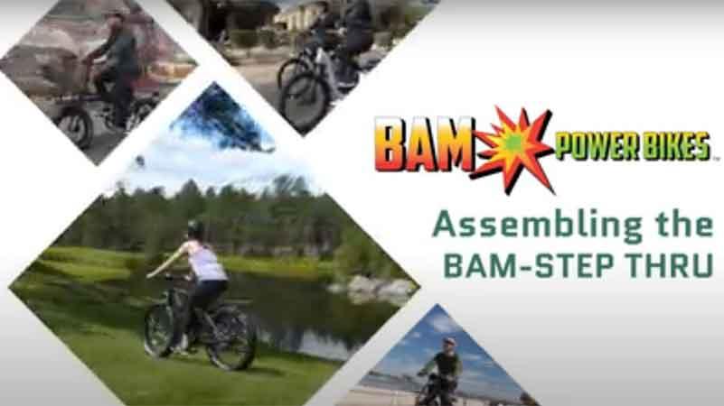 BAM Step Thru Electric Bike Assembly