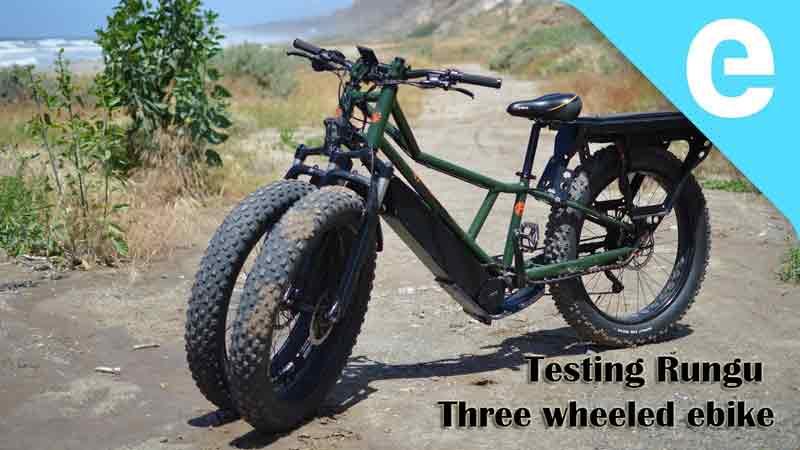 Testing Rungu three wheeled ebike